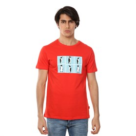 JOHN FRANK BASKILI COOL T-SHIRT CORAL-MERCAN