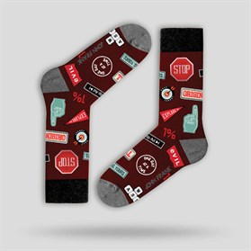 JOHN FRANK FUN SOCKS UZUN ÇORAP MULTICOLOR